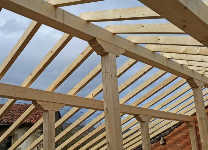 Estructuras de madera hefemar - Estructura casa de madera ...