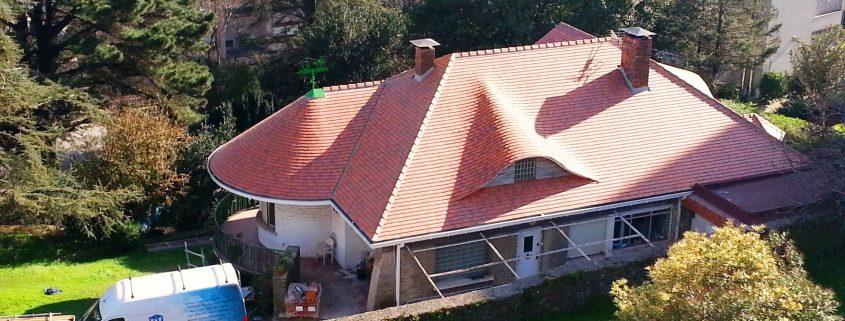 cubiertas de teja plana en santander