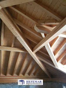 Estructura de madera en Santander