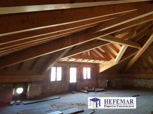 reconstruccion Estructura de madera en Cantabria